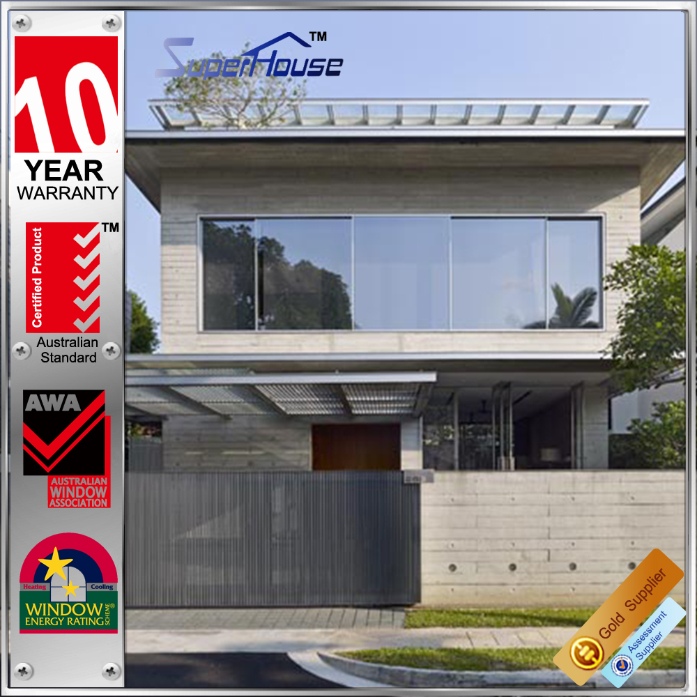 Aluminium windows AS/NZ2208 Standard Hurricane impact Aluminium Glazed sliding beveled glass Windows