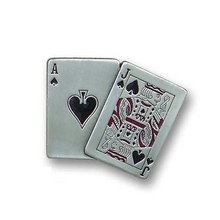 High Quality Poker Metal Silver Belt Buckle