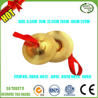 Musical Instruments Brass Cymbals,Kid Toys Cymbals For Sales,Colored Cymbals Sets