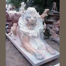 Professional factory to provide life size natural stone lion statue outdoor