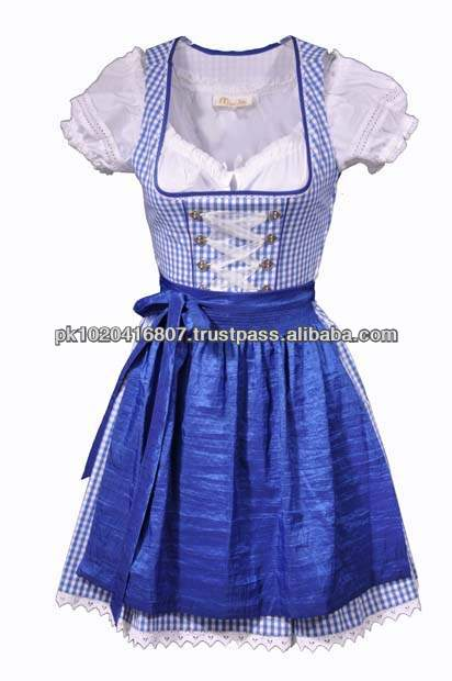TRACHTEN BLUE DIRNDL DRESS,TRADITIONAL BLUE BAVARIAN DIRNDL