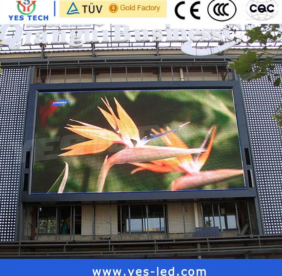 P10 1R1G1B LED outdoor full color display screen for advertising panel