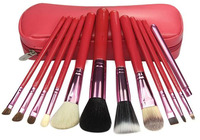 Professional 12 Makeup Brush Set tools Make-up Toiletry Kit Wool Brand Make Up Brush Set Case