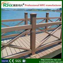 outdoor wood plastic compositr temporary fence with high quality waterproof and moisture-proof WPC outdoor handrail and fence