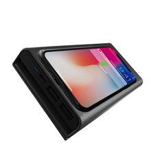 New Qi Wireless Charger 10000mah Leather Wallet Charger Purse Charging Power bank