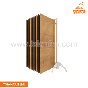 D3001 - tile display shelf Floor of wood of exhibition stand Wooden door display
