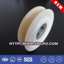 Large/Small Natural Color Nylon Pulley wheel with bearing