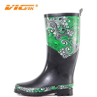 rubber boots , chicken printed rubber rain boots, firefighting rubber boots