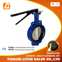 wafer type ci/di price list butterfly valves pn10/pn16/class150 good quality