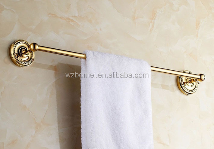 New arrival bathroom brass towel rack bar rail single bar