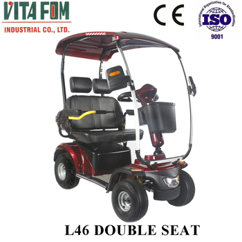2017 New !!! 1300W 24V Big Size 2 Seat Four Wheel Electric Mobility Couple Scooter