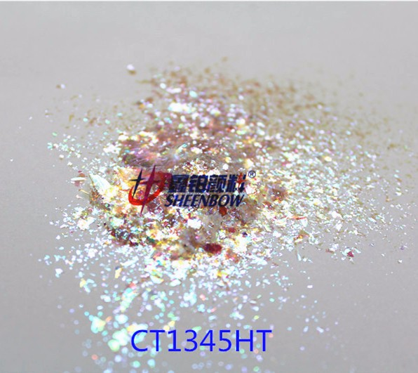 New white color chameleon flakes transparent pigment for nail