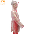 PVC Clear Plastic Reflective Raincoat
