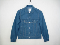 Girls/boys light blue button light wash cotton denim jackets