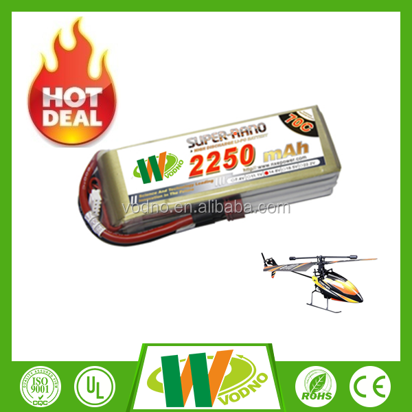 High performance 2250mAh 11.1V 70C 3S1P LIPO BATTERY PACK, lipo battery pack, propel rc helicopter battery