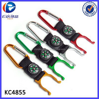 China Low Price Products Woven Carabiner Compass Keyring