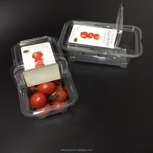 Disposable Food grade plastic fruit packaging container with vent