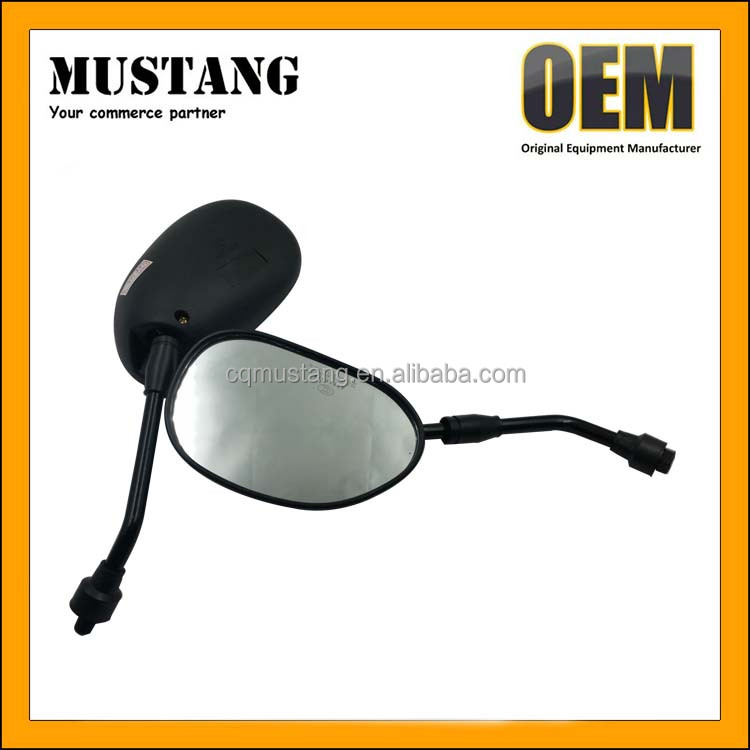 Motorcycle Oval Handle Bars Rear View Mirror For 2 Wheels Motorcycle