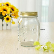 500ml carving glass honey canister, glass honey bottles