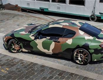 Jumbo Military Green Camouflage Vinyl Wrap For Car Wrapping Bubble Free