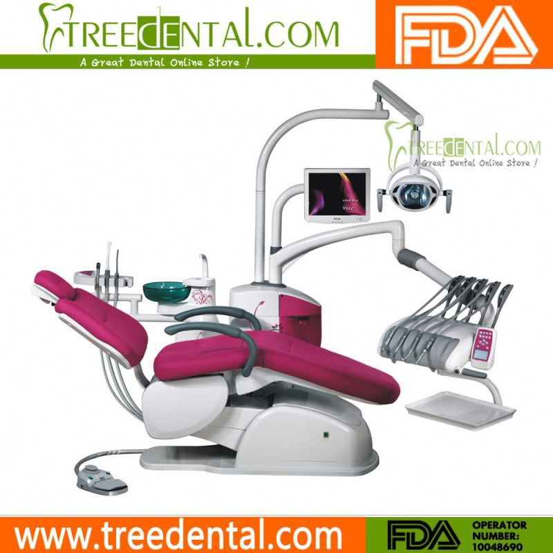 TR-A6600 Computer Control Unique Electric Dental Chair/Unit(leather cushion) dental equipments