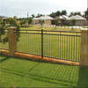 2.4mL* 1.8mH Of Powder Coated Steel Fence / Galvanized Steel Fence Gate For Home