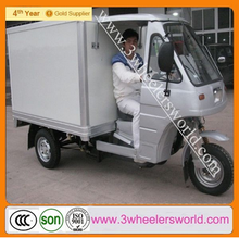 Made in China 200cc Closed Box Cabin Tricycle/closed box three wheel car