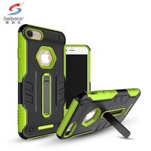 Mobile phone accessories new design tpu pc for iphone 7 7 plus phone case cover, kickstand phone case cover for iphone 7 7 plus