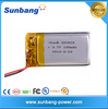 Rechargeable lipo battery lithium polymer battery pack 4.0mm20mm25mm small rechargeable battery 150mah for mini device