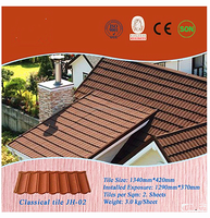 mixed color stone Coated Steel Roof tiles with long service time
