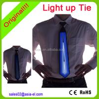 High brightness light up tie/el tie/custom el flashing tie for party club decoration