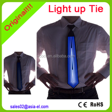 High brightness light up tie/el tie/custom el flashing tie for party club decoration