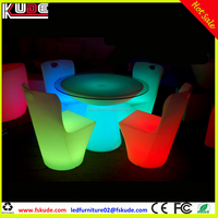 Party modern LED table and chairs for hotel restaurant used