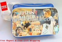 JUSTIN BIEBER Shoulder Messenger Gym Sport School College Bag A4