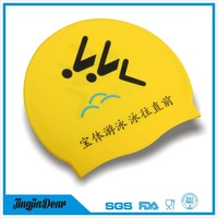 funny swimming cap,ear protection silicone swim cap,novelty silicone swim cap