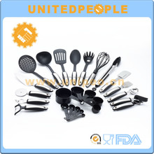 kitchen accessories 25-Piece silicone nylon kitchen utensils set with free sample