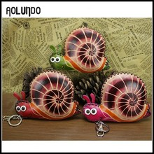 Beauty snail key holder money design wallet purses cases 2016