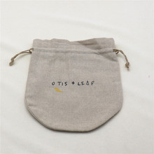 Wholesale Delicate Small Linen Gift Bag With Customized Logo