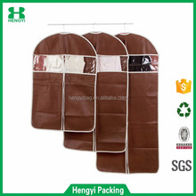 Custom wholesale foldable embossing non woven garment bag/high quality mens suit cover bag
