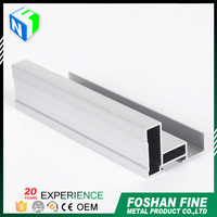 China factory anodized aluminum frame glass door parts