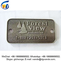 new custom hot sale graven logo metal label zinc nameplate