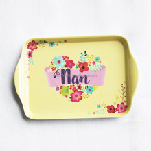 21cm x 14cm mini rectangle plastic melamine serving tray with handle