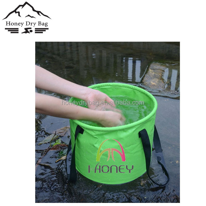 Collapsible Water Bucket Multi-functional Foldable Bucket, Perfect Gear For Camping, Hiking & Travel