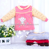 100% washable cotton Warm quilted baby jacket plain baby clothes