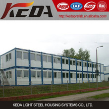 Prefabricated Home Container Office Building Two Storey for Construction Site Camp in Guangdong