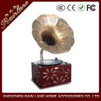 Beautiful Shape Annatto Archaize Phonograph Home Furniture