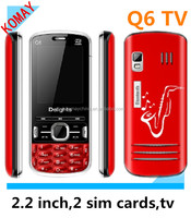 KOMAY 2013 cheap chinese mobile dual sim cards TV cellphone Q6 mobile phone