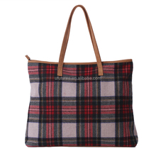 Personalized Adorable Monogrammed Tartan Tote Bag