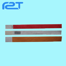 New 13.56mhz RFID disposable paper wristbands/tyvek bracelets