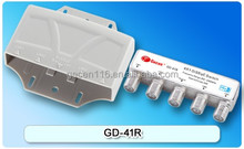 GECEN GD-41R HOT SALE water proof 4 in 1 out DiSEqC Switch 4 in 1 Excellent quality chip